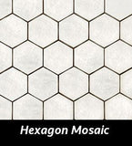 Regina Hardwood Flooring Center Tile Hexagon Mosaic - per SqFt Taj Mahal - Tile