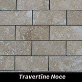 Regina Hardwood Flooring Center Tile Travertine Noce - per SqFt Bricks  - Tile