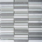 Regina Hardwood Flooring Center Tile White - Stacked Glacier Glass & Stone - Tile