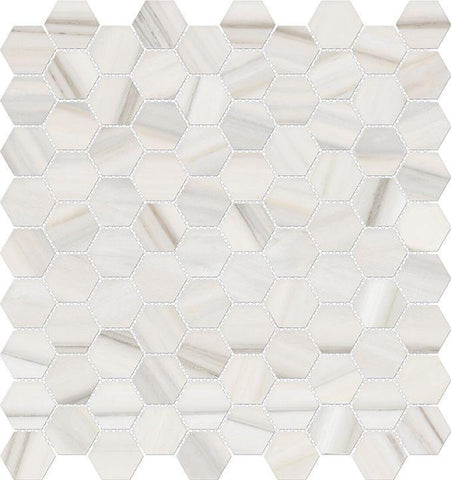 "Regina Hardwood Flooring Center Tile Zebrino 1.25"" x 1.25"" - per SqFt Mayfair Hexagon - Tile"