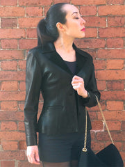 Leather Blazer Jacket