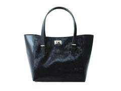 Black Pony Leather Tote