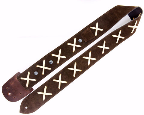 REPLICA GILMOUR GUITAR STRAP CUSTOM MADE (Brown)