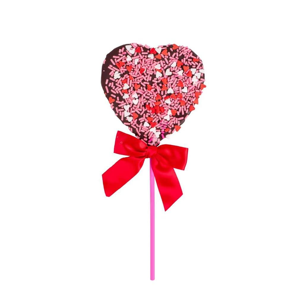 Chocolate Valentine Heart Lollipop Sweet Pete's Candy Boston General Store