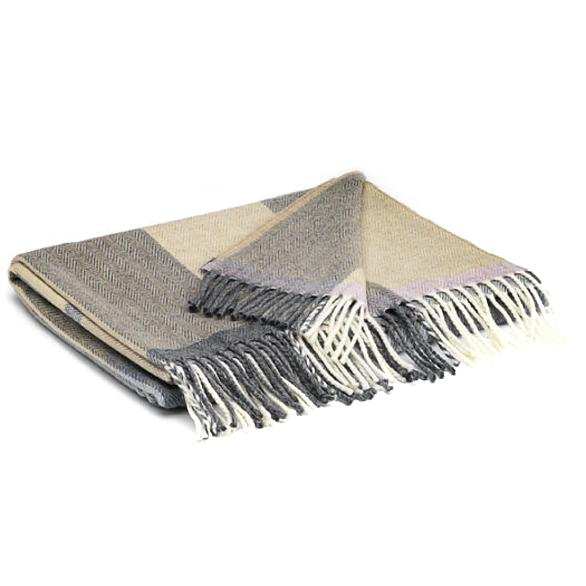 """Lilac Stripe"" Lambswool Pashmina Scarf McNutt of Donegal Boston General Store"
