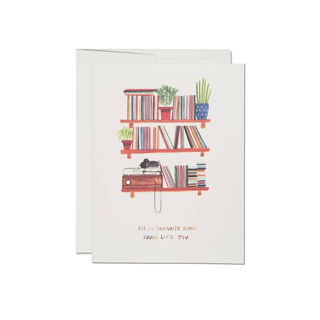 Love Songs Card Red Cap Greeting Cards Boston General Store