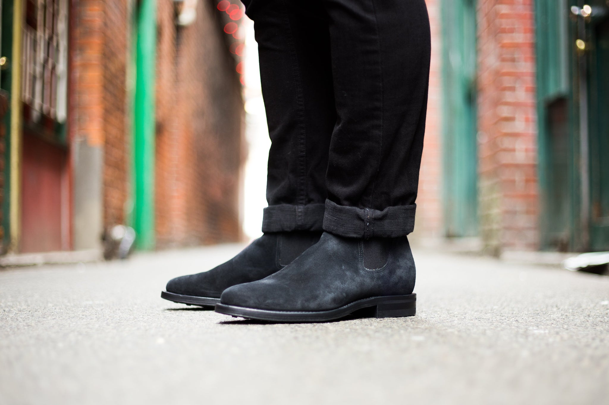 Washed-suede Chelsea Boots Viberg xt3M3x
