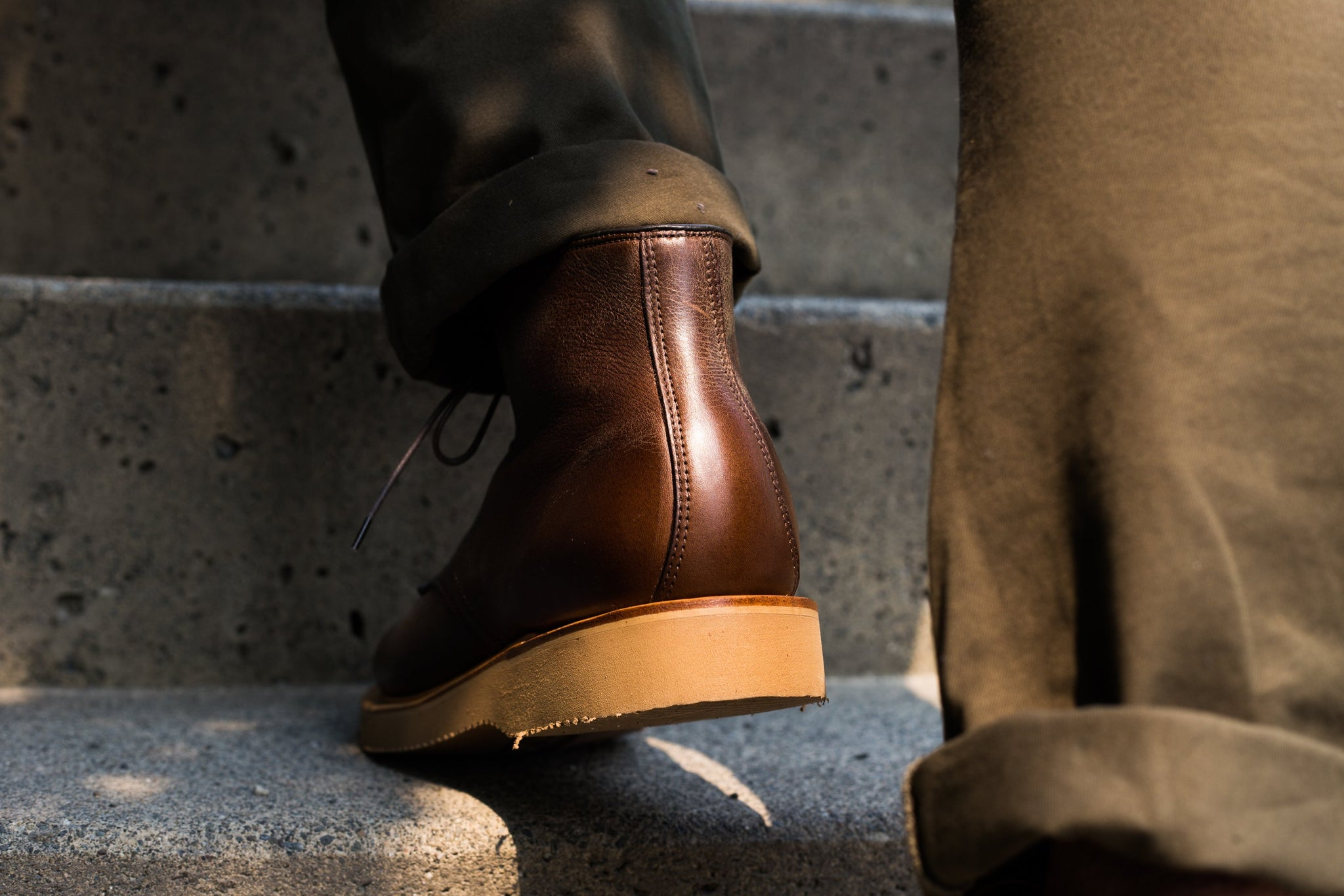 Derby Boot Brown Oiled Calf