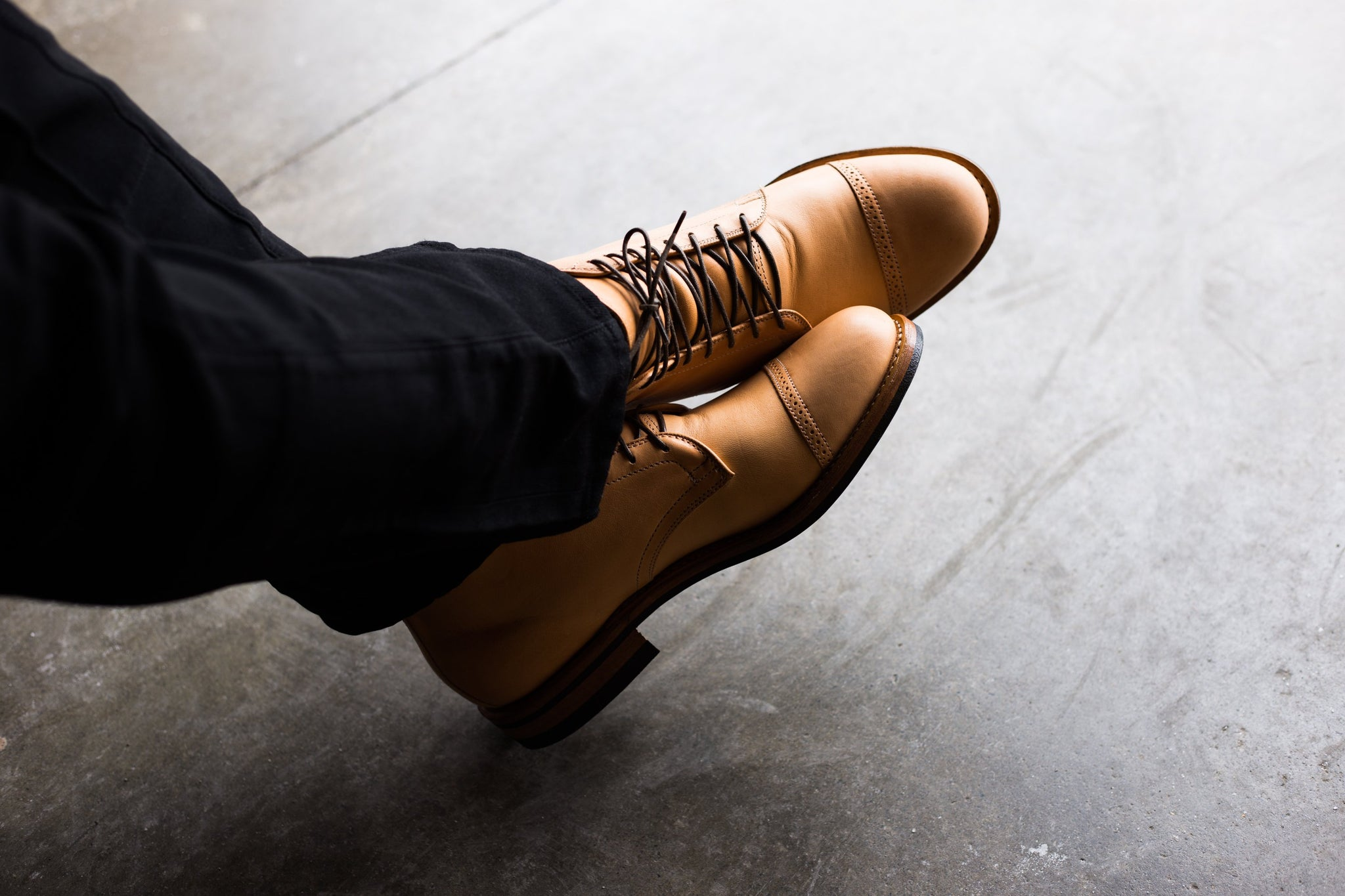Derby Boot Natural Horsehide