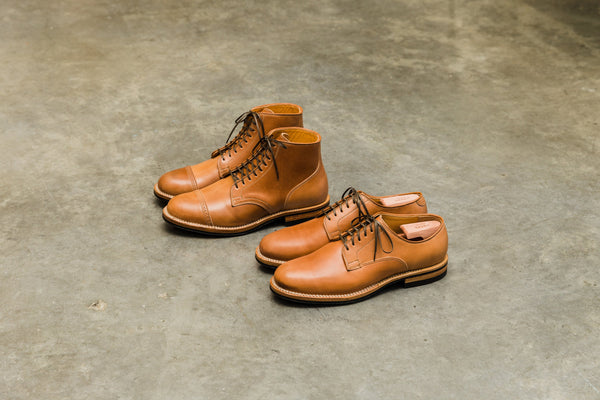 Derby Shoe and Service Boot Natural Shell Cordovan