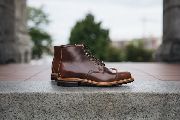 Derby Boot Mahogany Shell Cordovan