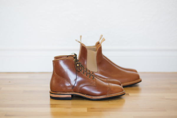 Service Boot & Chelsea Natural Shell Cordovan