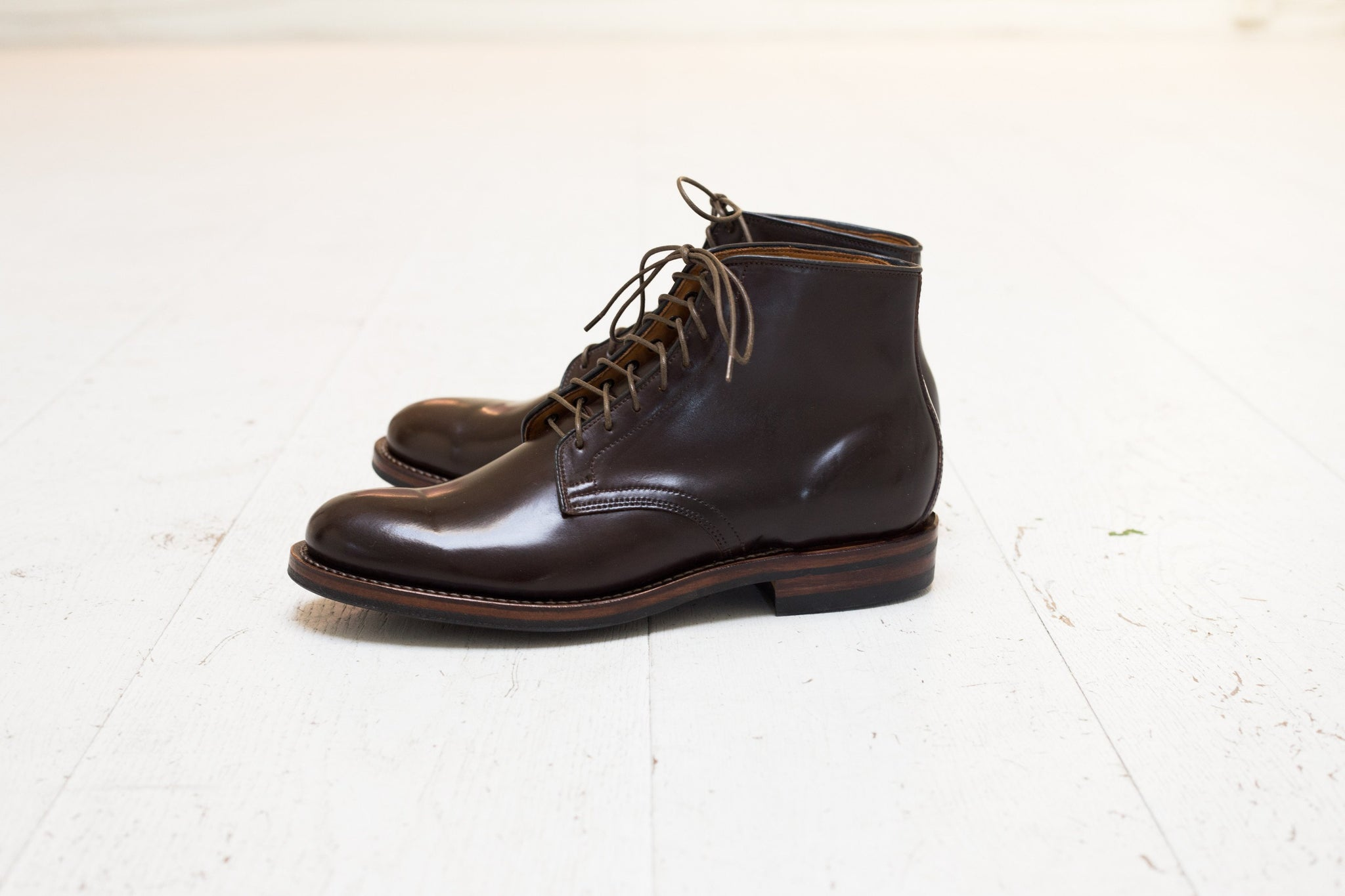 Derby Boot Dark Cognac Shell Cordovan