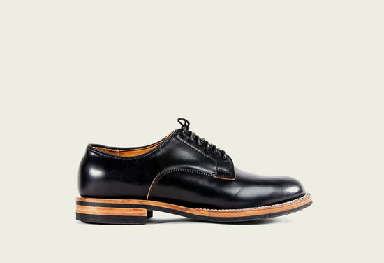 Derby Shoe Black Shell Cordovan