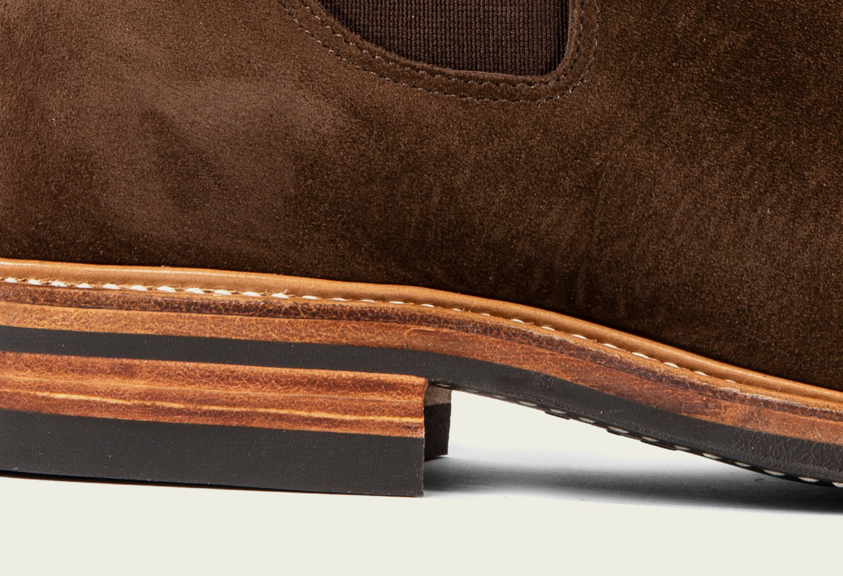 Chelsea Brown Calf Suede
