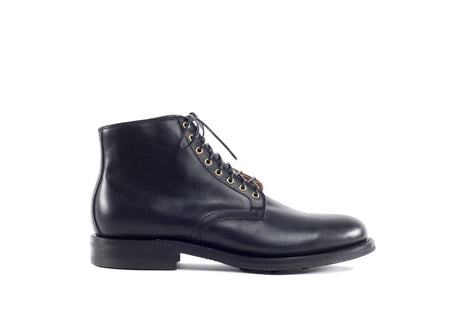 Derby Boot Black Horsehide