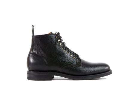 Derby Boot Black Scotch Grain Shell Cordovan