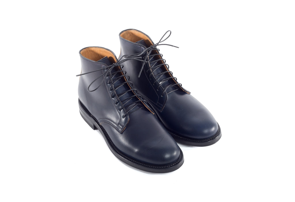 Derby Boot Unglazed Navy Shell Cordovan