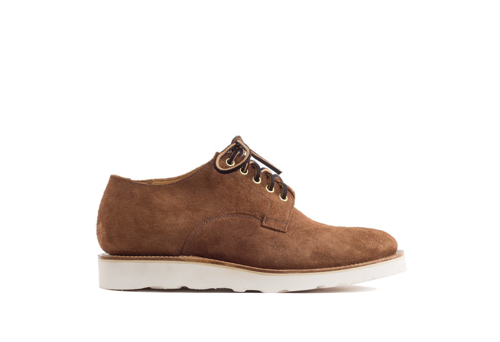 Derby Shoe Aged Bark Roughout