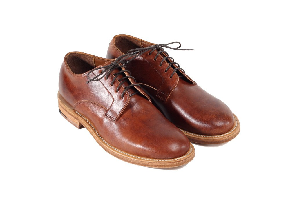 Derby Shoe Tan Horsehide