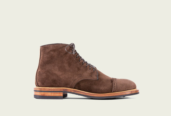 Derby Boot Brown Calf Suede