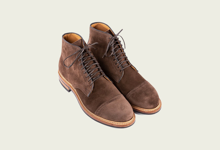Derby Boot - Brown Calf Suede