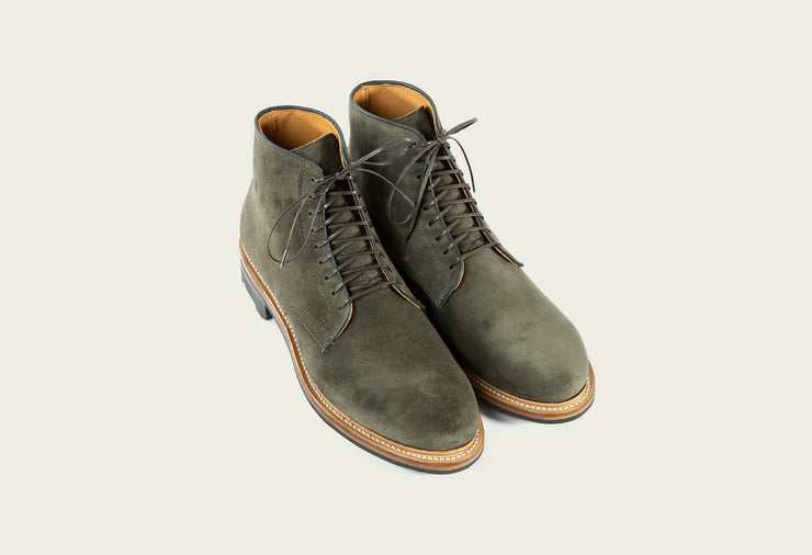 Derby Boot - Earth Calf Suede