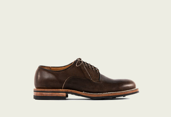 Derby Shoe Stoned Oiled Calf