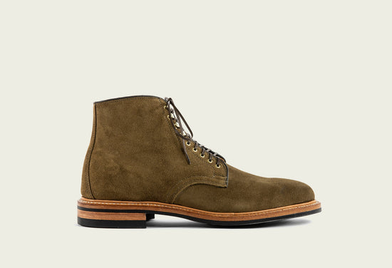Derby Boot Bamboo Calf Suede