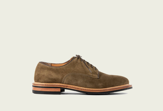 Derby Shoe Bamboo Calf Suede