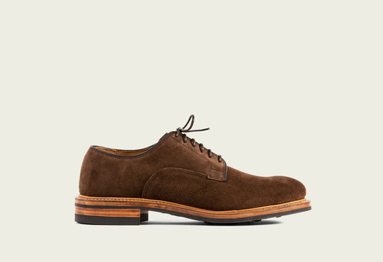 Derby Shoe Brown Calf Suede