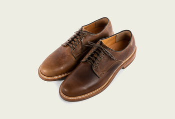 Derby Shoe Camel Oiled Calf
