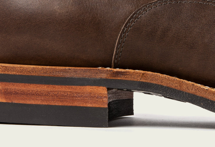 Derby Shoe - Stoned Oiled Calf