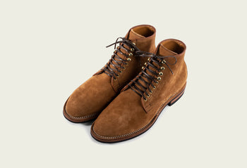 Derby Boot Anise Calf Suede