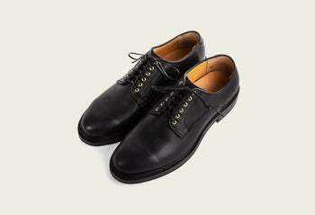 Derby Shoe Navy Oiled Calf