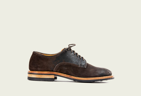 Derby Shoe Brown Split Horsebutt