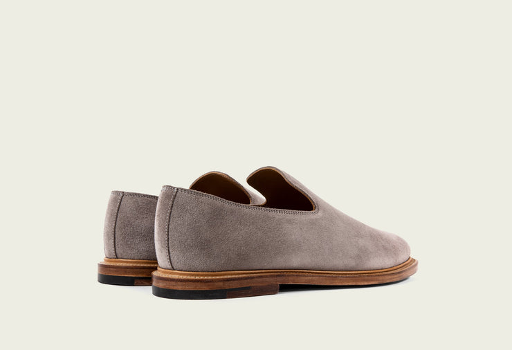 Slipper - Eco Veg Pewter Suede Roughout