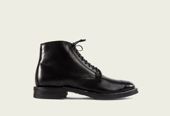 Derby Boot Black Glacé Deer