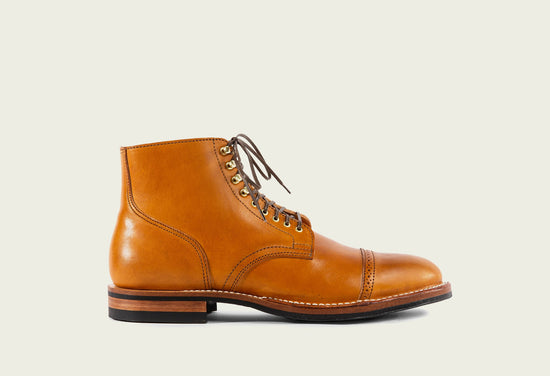 Service Boot Tan Horsehide Latigo