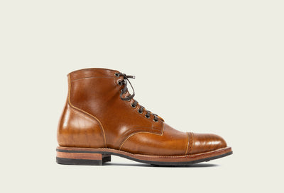 preorder service boot shinki horsebutt colour 2 brogue cap toe 8 antique eyelets brown dainite sole