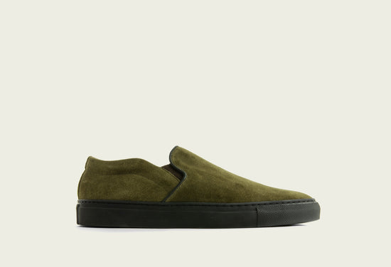 Slip On Bamboo Calf Suede
