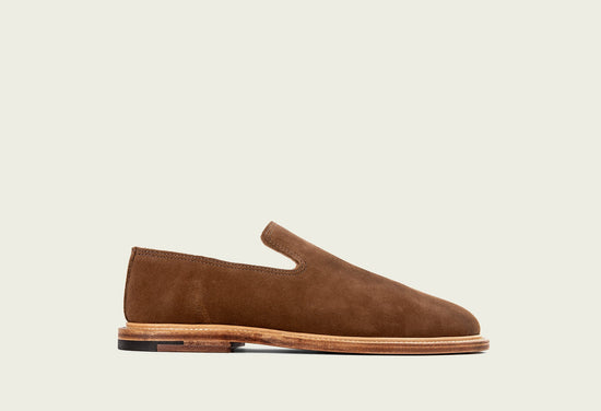 Slipper Snuff Calf Suede