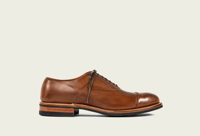 bastion oxford toscanello Tennessee calf folded cap toe tan french binding dainite sole 2020 last