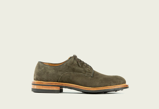 Derby Shoe Earth Calf Suede