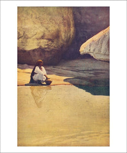 Acoma Pueblo, At the Well at Acoma, Art print - Retro-Reproductions, LLC