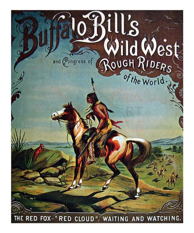 Buffalo Bill's Wild West 1893, Red Cloud I VintageArtReprints.com