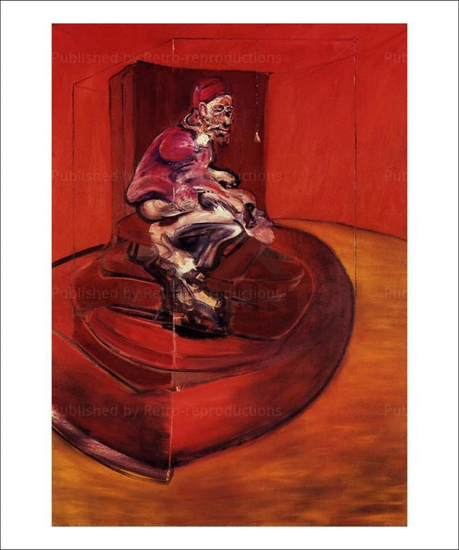 Francis Bacon, Etude d'apres Innocent X, 1962 - VintageArtReprints.com