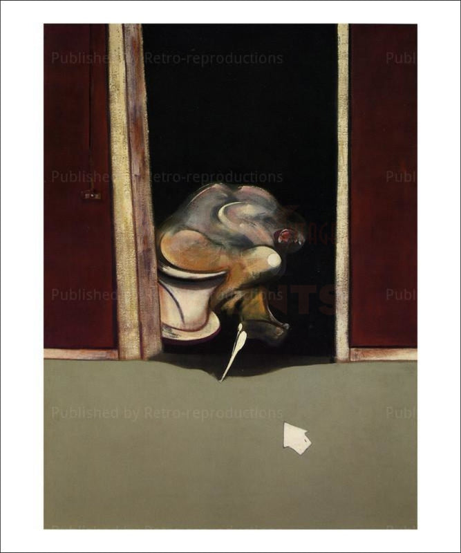 Francis Bacon, Mai juin, 1973 tryptique, VintageArtReprints.com