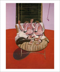 Art Print, Two figures lying on a bed with attendants 1968, Francis Bacon, art print - VintageArtReprints.com