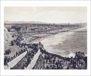 Beach and Cliff House, California, Photographic Print - Vintage Art, canvas prints